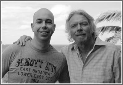 Simon with Richard Branson